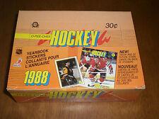 1988 OPC HOCKEY STICKERS UNOPENED WAX BOX - 48 PACKS