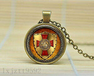 The Knights Templar Pendant Necklace Glass Necklace