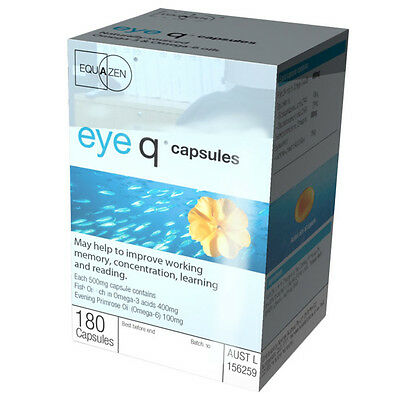 New 180pc Eye Q Cap Capsules Memory Concentration Learning Enchancer Pills
