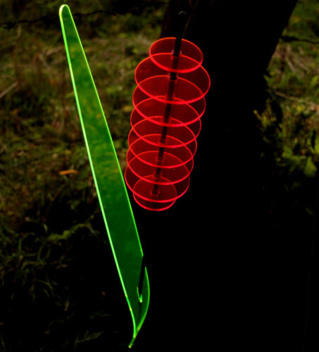 leuchtendes Schilfgras aus Acrylglas Gartendeko 1,5m SunForm-Sonnenfänger