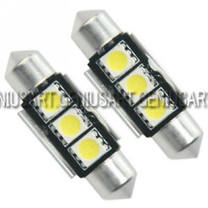 2x-3-SMD-LED-36mm-soffitte-CanBus-interior-lampara-lampara-luz-blanco-sofitte