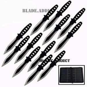 12-Pc-6-034-Ninja-Hunting-Tactical-Combat-Naruto-Kunai-Throwing-Knife-Set-Case
