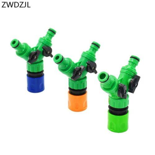 Irrigation 2 voies robinet de jardin vanne d/'irrigation tuyau séparateur 2