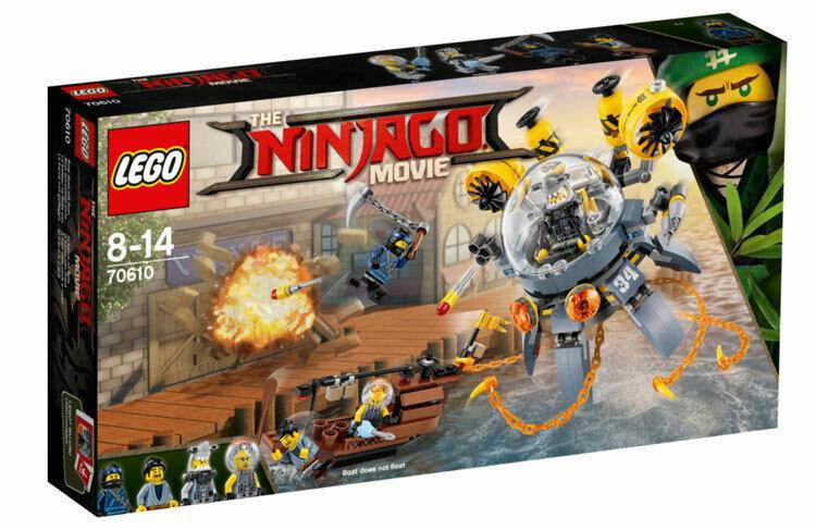 Lego Ninjago película  vuelo Jelly Sub (70610) Nuevo en Caja Juego De 2017