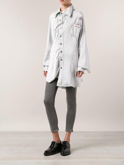 NWoT Vivienne Westwood gold Label  Anarchy     1600 Unisex Silk Shirt Dress - S M a76cc5