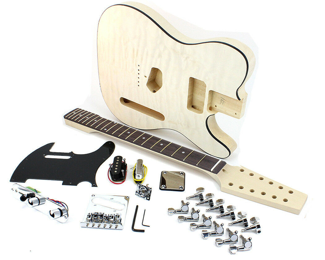 Pit Bull Guitars TL-12Q Electric Guitar Kit (Quilted Maple Veneer)