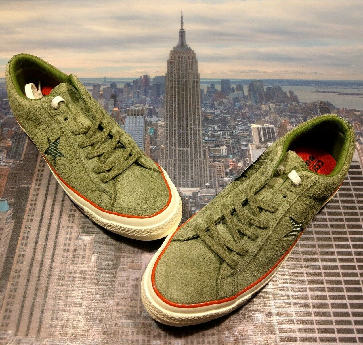 Converse X Undefeated One Star Ox Faible Top Capulet Olive pour homme Taille 10 158894 c NEUF