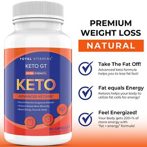 Keto GT Advanced Weight Loss 800mg Ultra Fast Keto Diet Pills 360 BHB Fat Burner