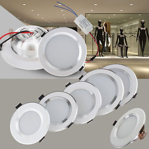 Dimmable Led Recessed Ceiling Light Downlight Bulbs 3w 5w 7w 9w 12w Fixture Lamp Ebay