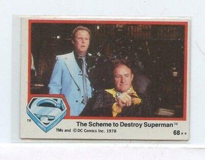 100% Waar 1978 Topps Movie #68 The Scheme To Destroy Superman Obstructie Verwijderen