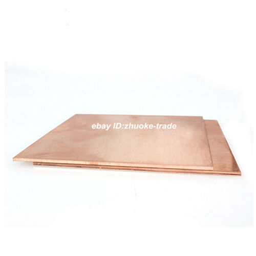 6mm Thick T2 Copper Sheet Plate Strip Bar Cut Any Size Conductive Electrolytic