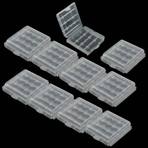 10x-Hard-Plastic-Clear-Case-Cover-Holder-Rechargeable-AA-AAA-Battery-Storage-Box