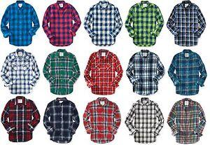 Aeropostale-Mens-Long-Sleeve-Plaid-Button-Down-Woven-Shirt-S-M-L-XL-2XL-3XL-NEW