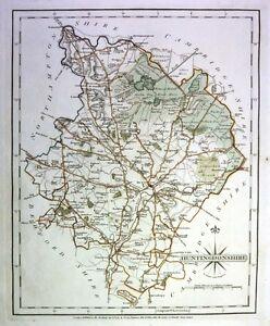 Antique-map-Huntingdonshire