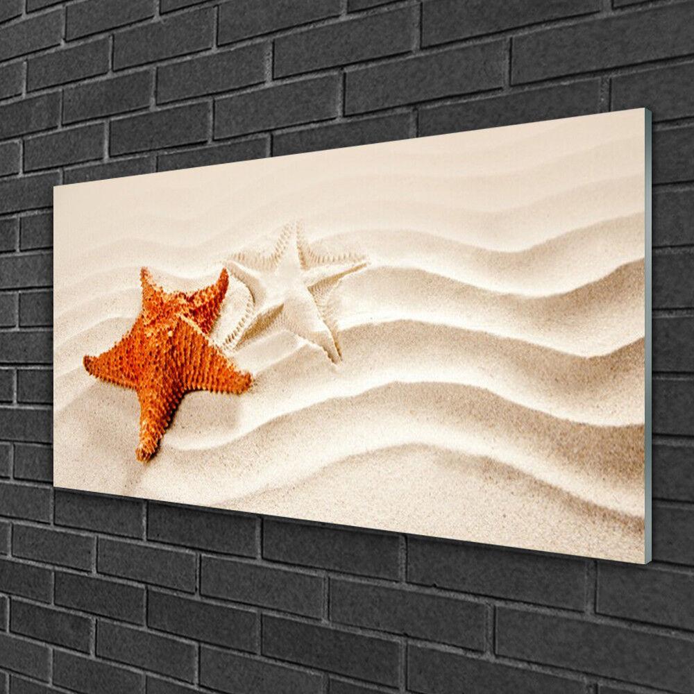 Tableau sur verre Image Impression 100x50 Art Sable Étoile De Mer