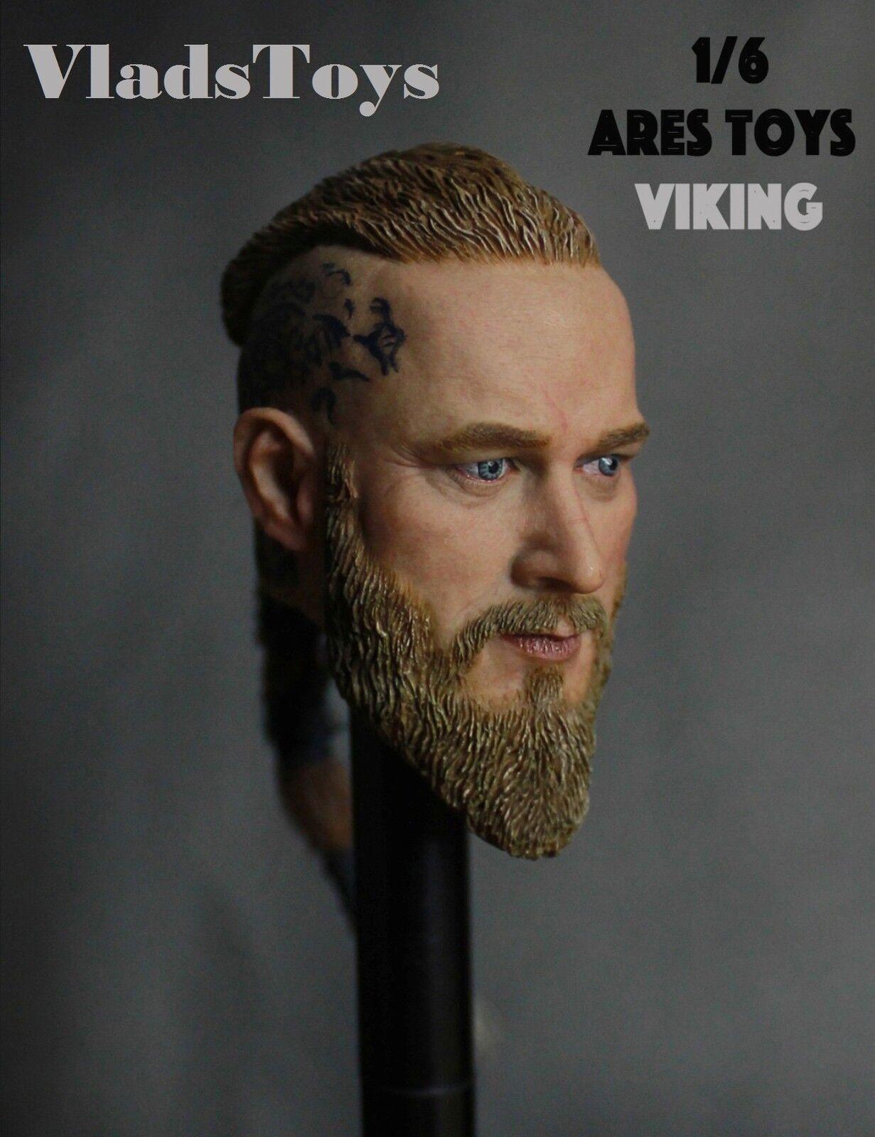 Ares Spielsachen 1 6 Maßstab Travis Fimmel Vikings Ragnar Kopf Skulptur Rmat-001