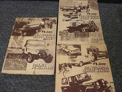 NOS 1977 Jeep CJ Wagoneer Cherokee,Truck OEM Owner/'s Manual