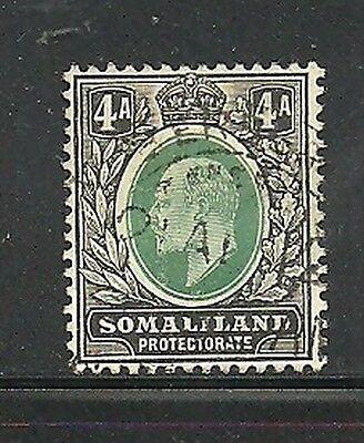 Europa Album Schätze Somaliland Protectorate Scott # 45 4a Edward Vii Vfu Cds