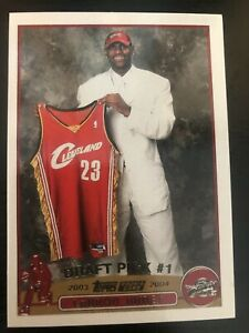 Lebron James 2003 RC Rookie Draft Pick #1 Cleveland Cavaliers Reprint