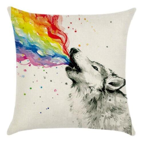 Vintage Cotton Linen Cushion Cover Throw Waist Pillow Case Sofa Home Decor MP