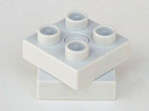 LEGO - Duplo Turntable Swivel 2 x 2 with Square Top - Light Gray