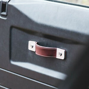 Land Rover Defender leather door handles handcrafted in Australia