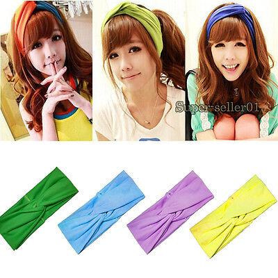 Women's  New Fashion Turban Twist Headband Head Wrap Soft Hairband 16 Colors