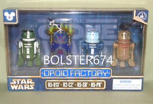 Star Wars 2017 Disney Droid Factory clone Wars 4-Pack R5-013 R2-C2 R5-S9 R5-P8