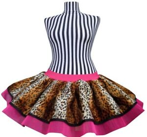 b9ac538583 Neon Tutu Skirt I LOVE 80s Fancy Dress Hen Party Fun Run Leopard ...