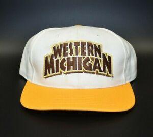 Western-Michigan-Broncos-Twins-Enterprise-Vintage-90s-Snapback-Cap-Hat-NWT