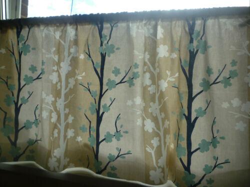 "140 x 35.5cms Floral Milieu du Siècle Moderne CAFE Curtain Valance Panel 54 x 14/"""