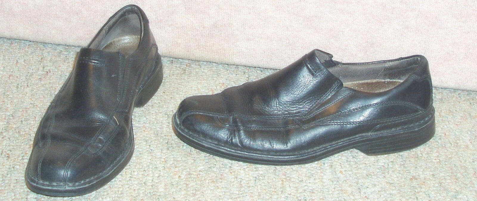 Men's black leather upper loafers CLARKS slip on  loafers upper / shoes  , sz  9 M 7123f7