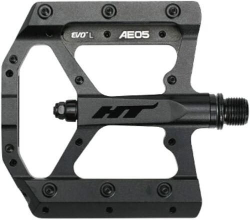 "HT Components Stealth Black AE05 Evo Bike Pedals Pair 9//16/"""