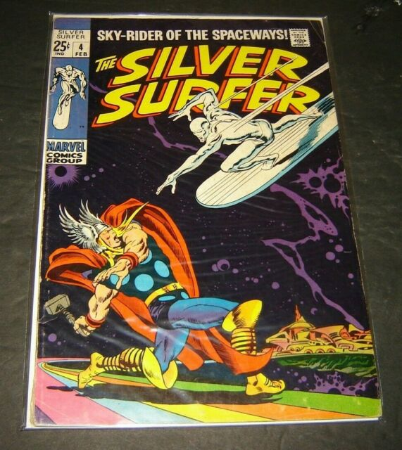 MARVEL COMIC 1969 THE SILVER SURFER #4 THOR AND LOKI APP