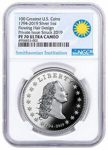 2019-Smithsonian-America-039-s-First-Silver-Dollar-1-oz-Medal-NGC-PF70-UC-SKU57384