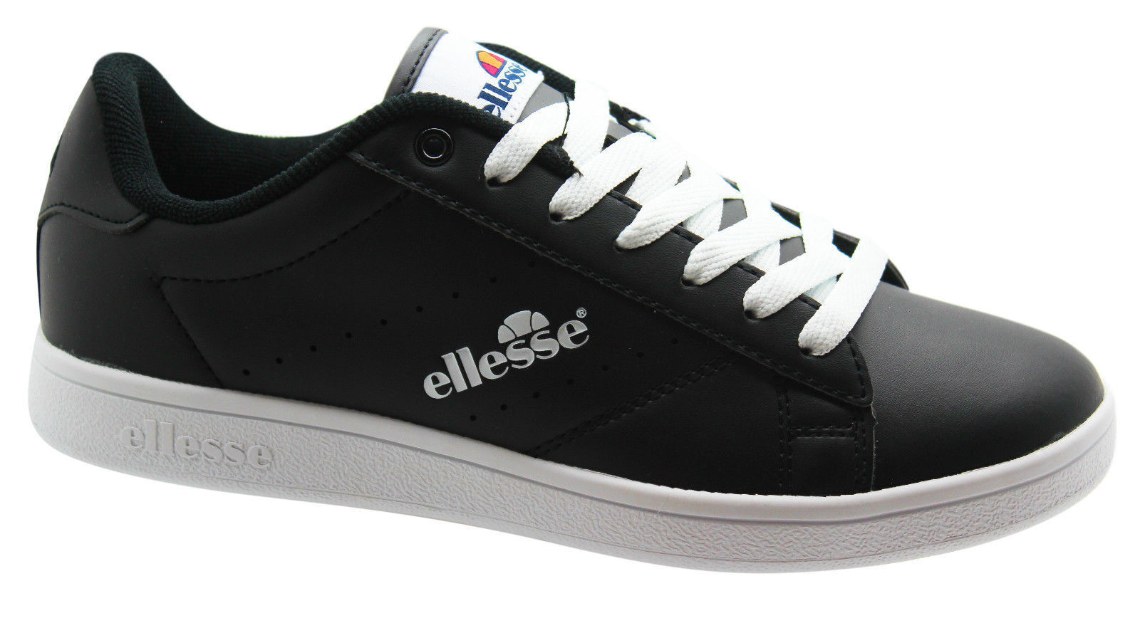 ELLESSE ANZIA LOW, BLACK WHITE UK SIZES 7.5 - 10.5 BNWB