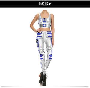 Star Wars Smart R2 D2 Droid Printed Women Legging pant and bra L0437