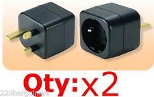 European Schuko to UK Adaptor Plug UAE IRELAND Grounded Adapter
