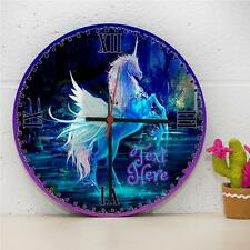 Personalised Fantasy Unicorn Girls Hanging Wall Bedroom Clock Gift RC163