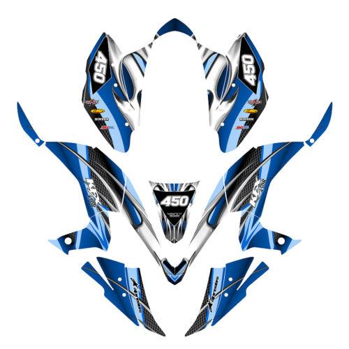 Kawasaki KFX 450R graphics sticker kit Design #1300 Blue