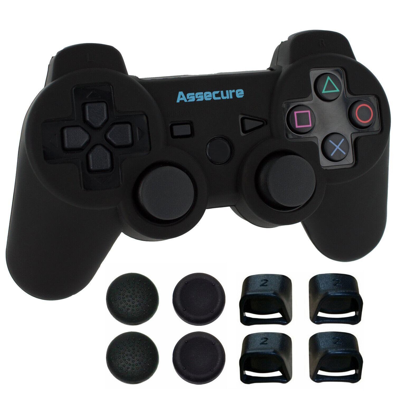 Case & Trigger pack for Sony PS3 Controller Pro comfort grip kit Black | Zedlabz