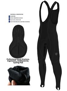 Hera International Mens Cycling Bib Tights Padded Thermal Long Leggings Winter Bike Trouser