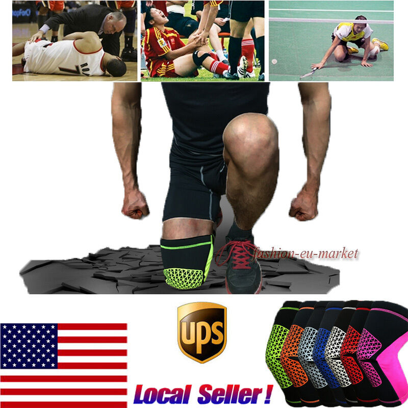 US Elastic Knee Pad Wrap Support Brace Arthritis Injury Sleeve Protector Support 1
