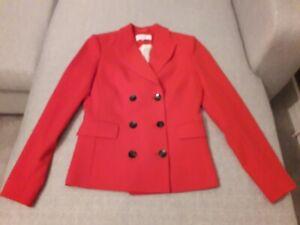 eu Short jacket Reiss Breasted 2 Size 6 Maraschino us 34 Uk 'izzy' Blazer Double wt11rUvqX