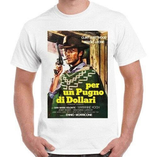A Fistful Of Dollars Italian Poster Retro Vintage T Shirt 214