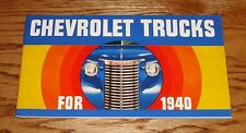 1940 Chevrolet Truck Full Line Sales Brochure 40 Chevy Pickup