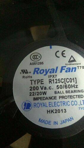 new  original TYPE R125C(C01)200V  ROYAL FAN 3 month warranty