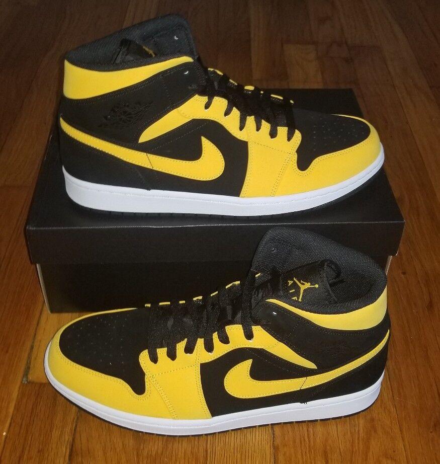 NEW Air Jordan 1 Mid Yellow/Black