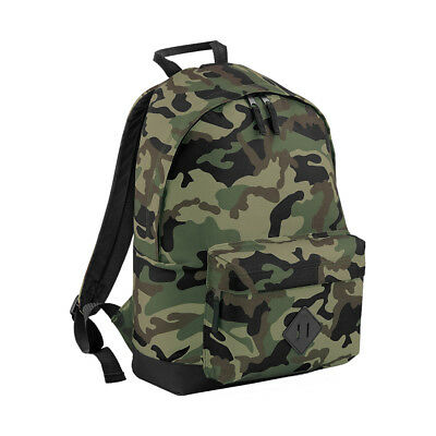 f4080d93548574 Details about BagBase Camouflage 18L Backpack RUCKSACK (BG175) CAMO ARMY  JUNGLE MIDNIGHT BAG