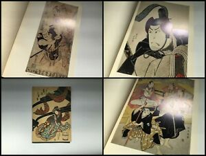 Japanese-1970s-Ukiyoe-Photo-Book-Vtg-Wood-Block-Print-Hanga-Kimono-Samurai-n491